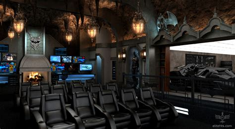 cave media room themed home theater every s batcave