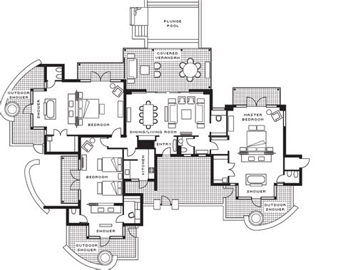 3 bedroom villa floor plans three bedroom villa four seasons resort mauritius at anahita