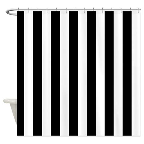 black white striped shower curtain black and white stripe shower curtain by curtainsforshowers