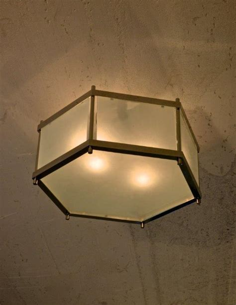 Hexagon Ceiling Light Cl Sterling Hexagon Ceiling Fixture