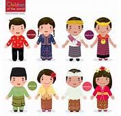 可爱的卡通各国儿童矢量素材  素材中国16素材�