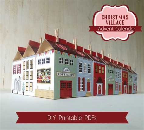 printable christmas village advent calendar boxes printable christmas village countdown