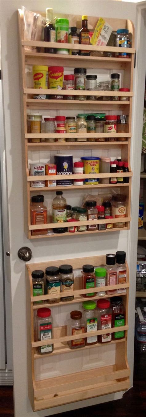 diy spice rack for pantry door the 25 best pantry door rack ideas on diy projects kitchen pantry spice rack b q