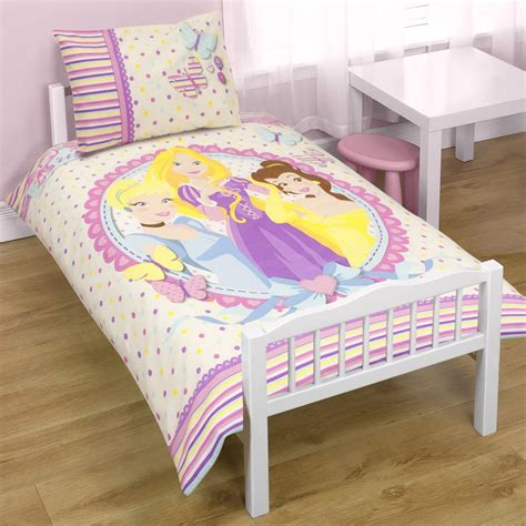 Princess Bed Cover Set Disney Princess Locket Junior Cot Bed Duvet Cover New Free P P Ebay