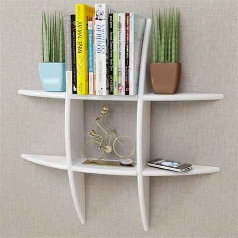 librerie da parete moderne vidaxl libreria moderna da parete mdf bianco