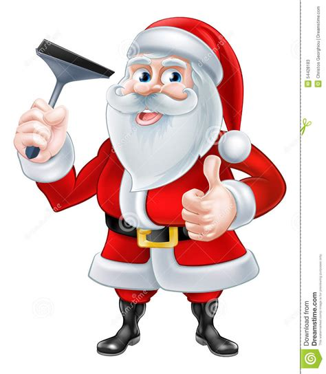 Cimarelli S Plumbing Santa by Window Cleaner Santa Stock Vector Image 54428183