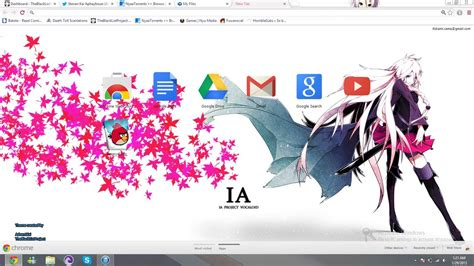 theme line vocaloid vocalova ia google chrome theme