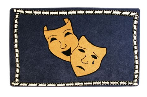 theater rug comedy and tragedy home theater area rug
