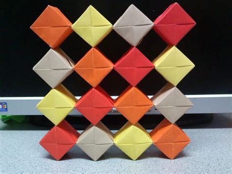 Moving Cubes Origami - origami moving cubes grid formation by