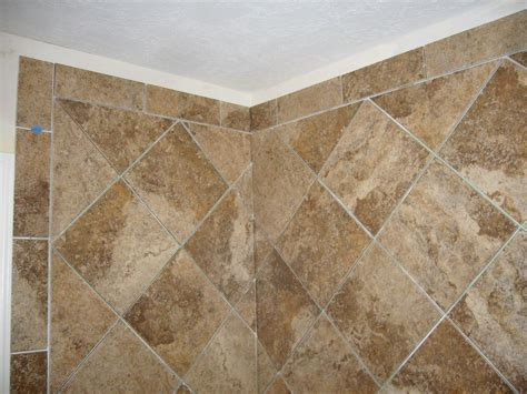 diamond bathroom shower tile shower design pinterest