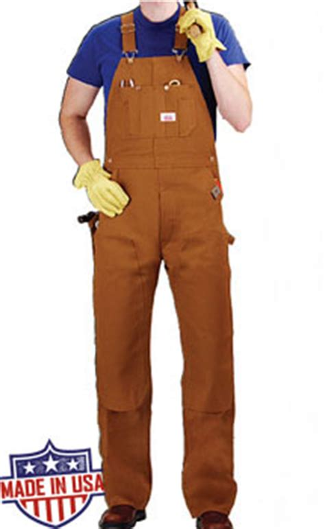 round house overalls roundhouse american made heavy duty duck bib overalls brown duck 44 98 free