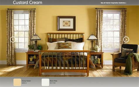 quot custard quot arts crafts inspired interior paint color palette from behr walls