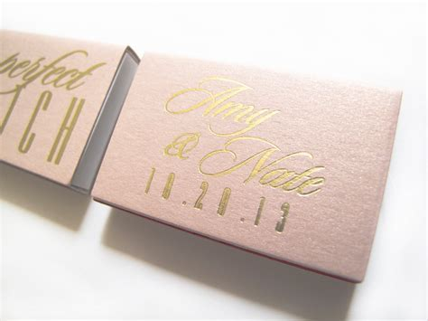 The Perfect Match Matches Wedding Favors   Personalized
