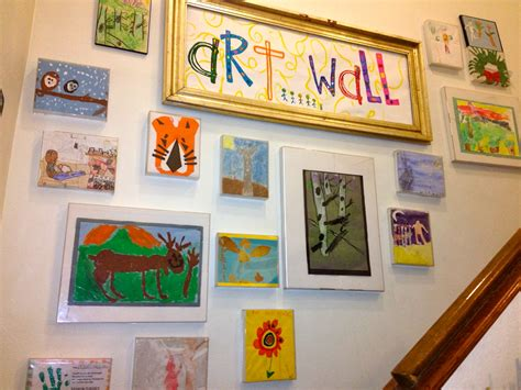 how to display art prints kids art wall using cheap plastic frames that we used to