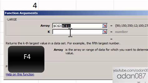 adan087 tutorials excel sort numeric values with formula large