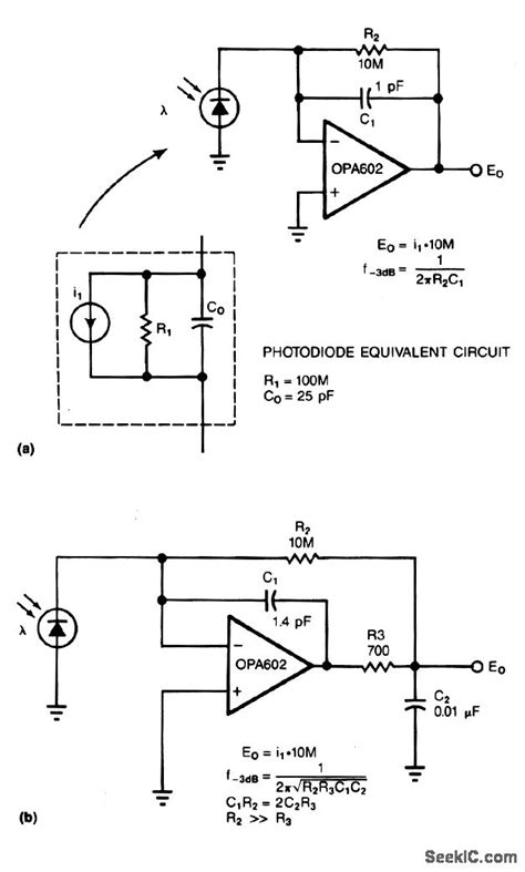 photodiode low noise lifier low noise photodiode lifier lifier circuit circuit diagram seekic