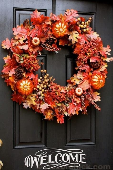 welcoming  easy diy fall wreath ideas  love  day
