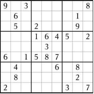 sudoku 9x9, 6x6 and samurai puzzles