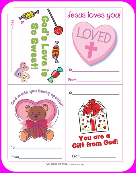 printable school valentines cards 6 best images of printable religious s free