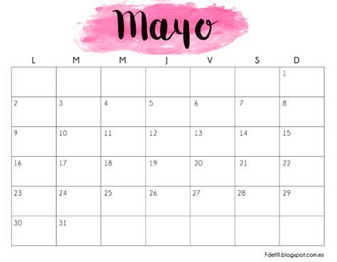 calendario para descargar e imprimir mayo 2016 f