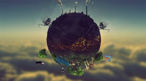 Kaos Save Earth From Pollution earth pollution amazing wallpaper tutorial