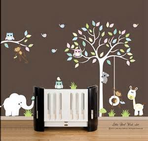 White Tree Wall Decals For Nursery Children Wall Decals Nursery White Tree By Littlebirdwalldecals