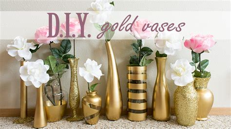 apartment decor diy painted glass vases d i y gold vases seattle stylista