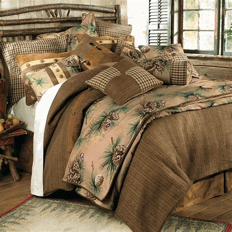 lodge comforter rustic bedding crestwood pinecone bedding collection