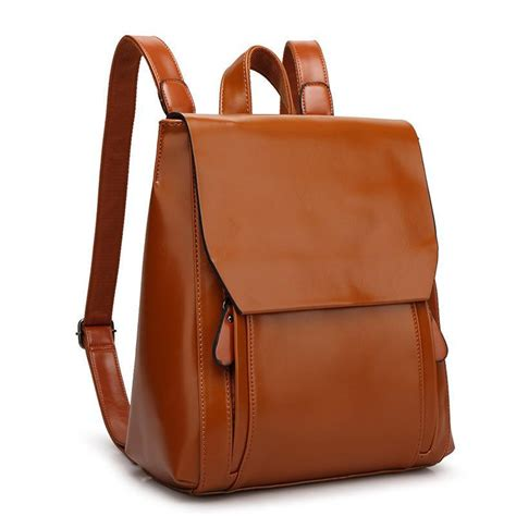 new 2015 pu leather backpack black and brown