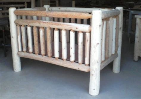 Amish Built Log Bedroom Furniture Serving All Of Ohio Log Cribs For Babies