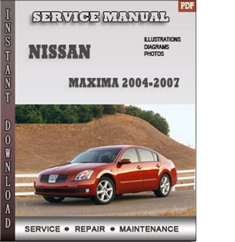 service and repair manuals 2006 nissan maxima instrument cluster 2004 2007 nissan maxima service repair manual
