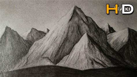 Drawing Mountains by How To Draw Mountains Whith Pencil Step By Step Drawing