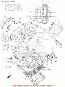 suzuki gz125u 2000 y cylinder schematic partsfiche