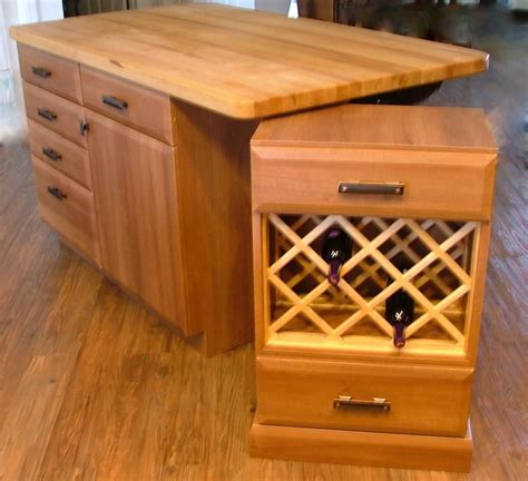 custom made butcher block made butcher block island with floating wine rack by