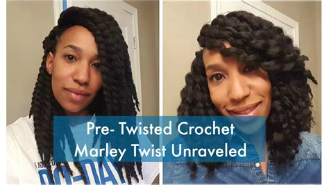 pretwisted marley hair crochet pre twisted marley hair unraveled youtube