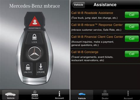 mercedes mbrace iphone application 2 0 introduces