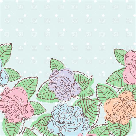 Vector Backgrounds With Roses For Invitations floral background with bud of roses invitation in pastel