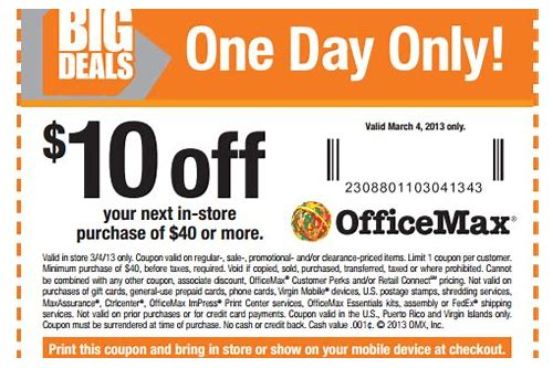 office max store coupons