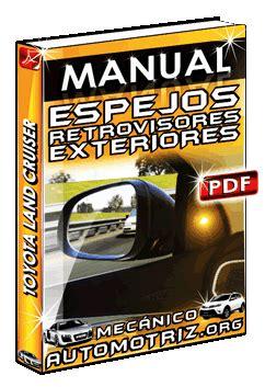 manual de espejos retrovisores exteriores de toyota land