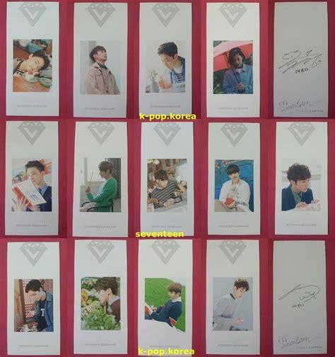 Letter Album Seventeen Lot Of 13 Seventeen Official Photocard Letter
