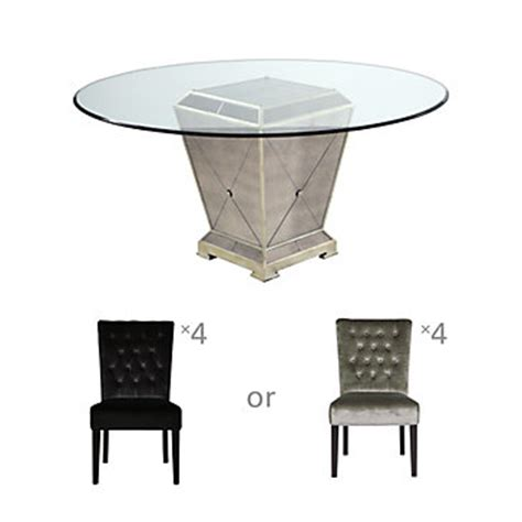 z gallerie borghese dining table chic combo borghese table 4 lola side chairs dining
