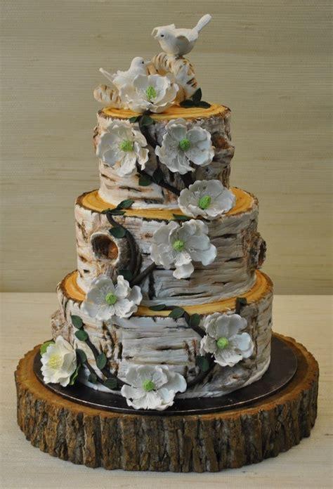 rustic wedding cakes pictures the cake zone birch tree birds wedding cake more