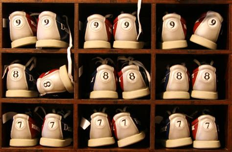 Bowling Alley Shoe Rack by Bowling In Toronto