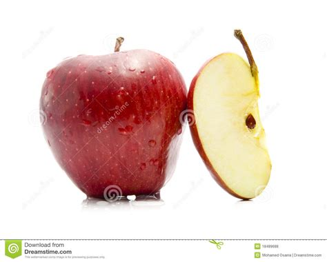 apple cut royalty free stock photos image 18489688