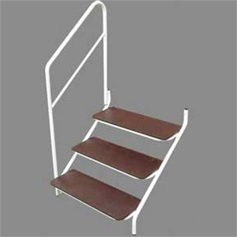 Caravan Steps With Handrail deluxe bolt on caravan steps with handrail 3 tread