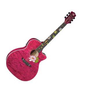 Lotus Flower Acoustic Disc Flora Lotus Custom Electro Acoustic Guitar At