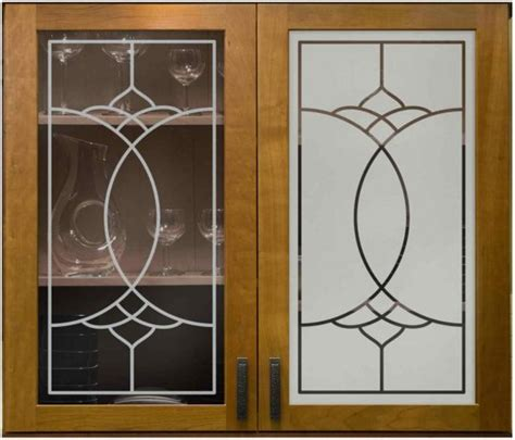 Sandblasting Kitchen Cabinet Doors | glass door cabinets inserts frosted carved custom glass