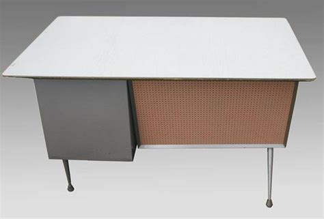 Industrial Modern Desk Mid Century Modern Raymond Loewy Industrial Metal Desk Ebay