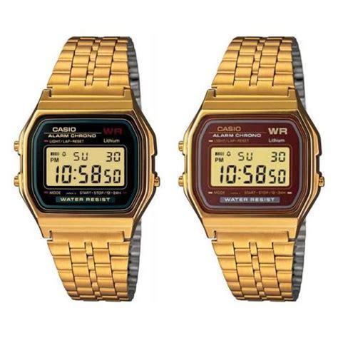 orologio oro casio orologio casio vintage gold a159wgea unisex acciaio