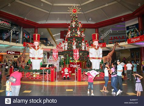 christmas decorations inside the huge albrook shopping